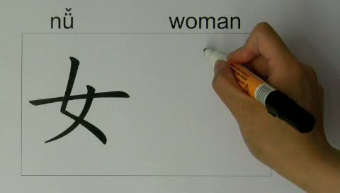 How to write chinese words beautiful