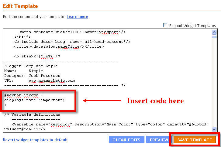 remove or hide blogspot navbar