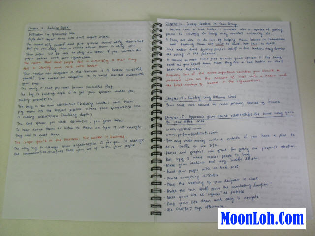Moon Loh note book